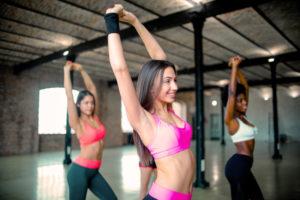Woman dancing fitness