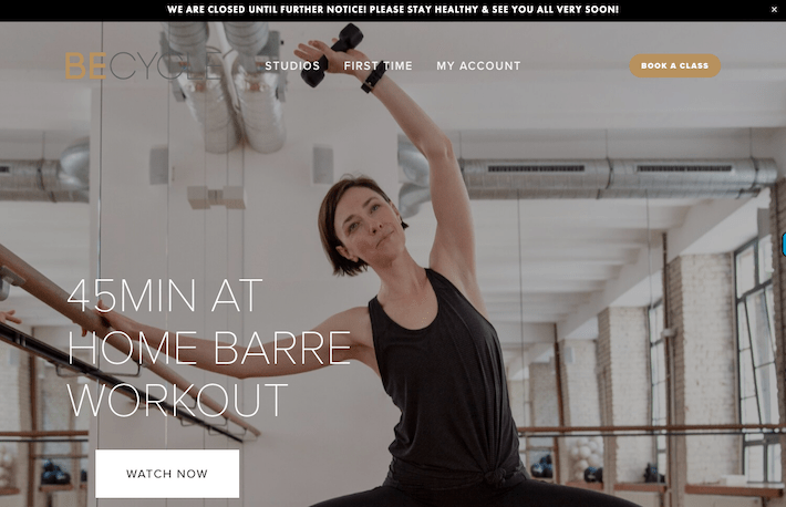 Boutique Fitness Studio Streams Content